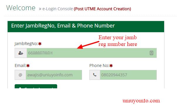 enter registration details