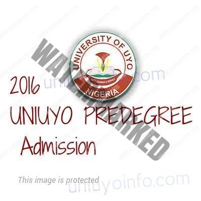 uniuyo pre degree form 2016