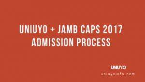 uniuyo jamb caps 2017 admission