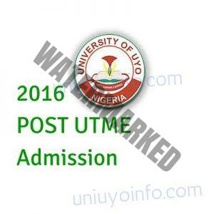 2016 uniuyo post utme screening