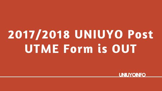 uniuyo post utme screening 2017
