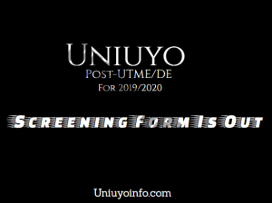 uniuyo screening exercise 2019/2020