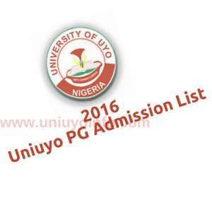 2016 uniuyo pg admission
