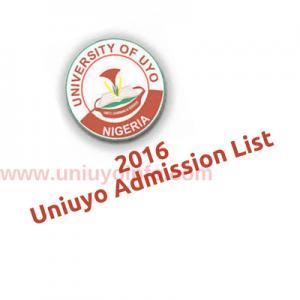 2016 uniuyo utme admission status
